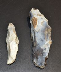 A very nicely worked pair of Early Neolithic flint hafting picks found in Dorset SOLD